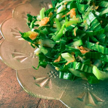 I love Bok Choy Salad with Apples and Carrots
