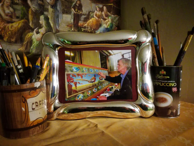Our friend Carlo, the painter from Switzerland, had passed away