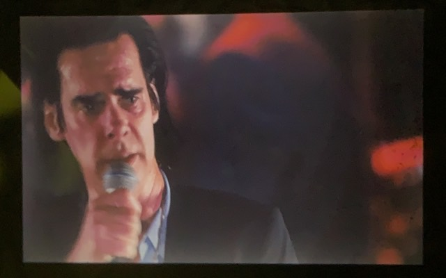 Nick Cave sings on our terrace