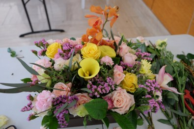 My first ever floral arrangement