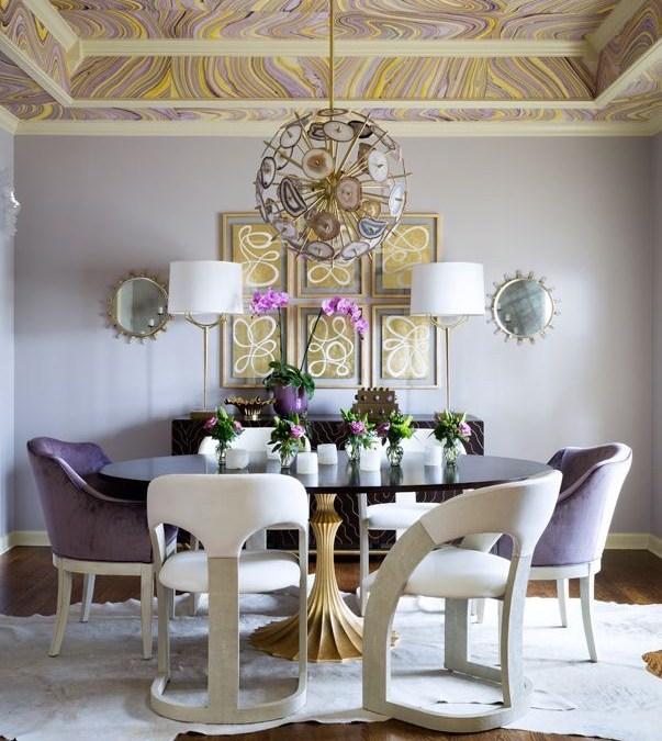 Modern Monday: Transitional Retro Dining Room