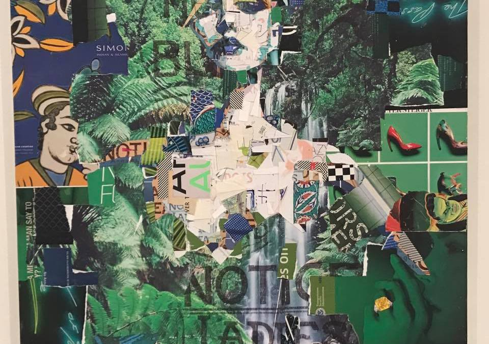 Art: Rainforest Contemporary Collage