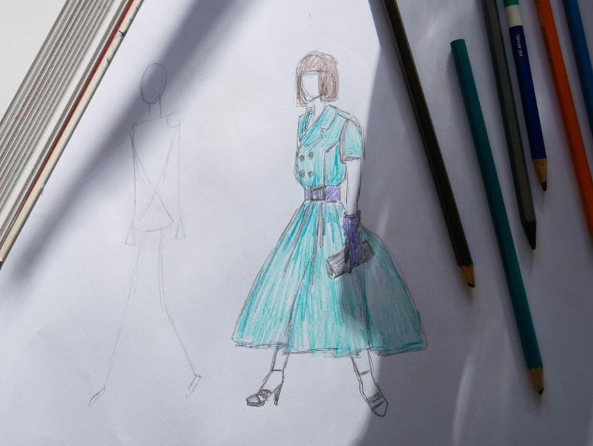 drawing fashion models