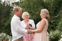 Saying their handfasting vows
