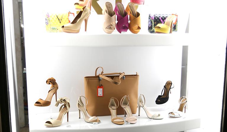 Utstillingsvindu med sko
