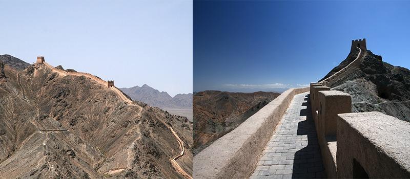 chinese muur Jiayuguan