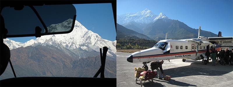 vlucht Pokhara - Jomsom
