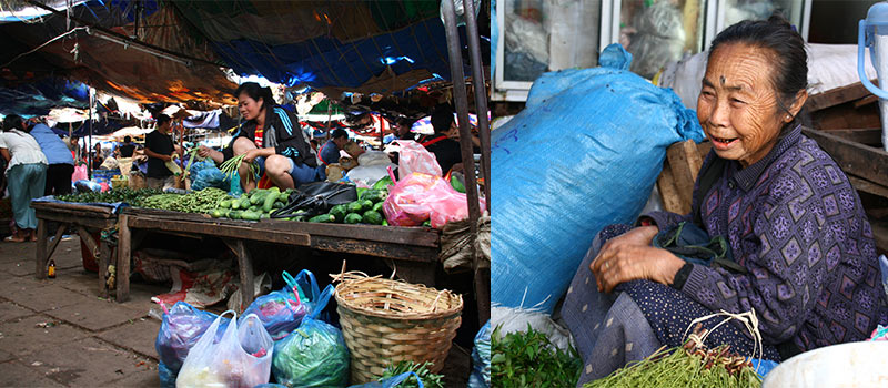 Thong Khan Kham Market Vientiane