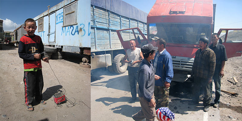Kirgische grens Irkeshtam pas