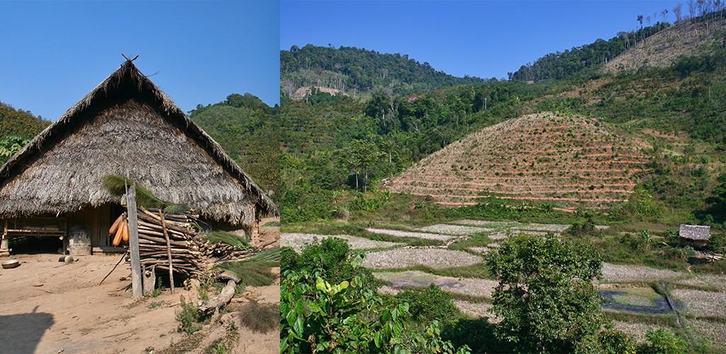 Bergachtig Noord-Laos op weg naar Chiang-Rai