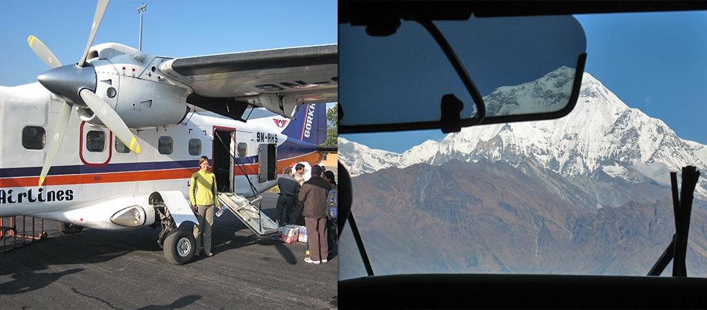 Jomsom Trek vliegen Pokhara - Jomsom