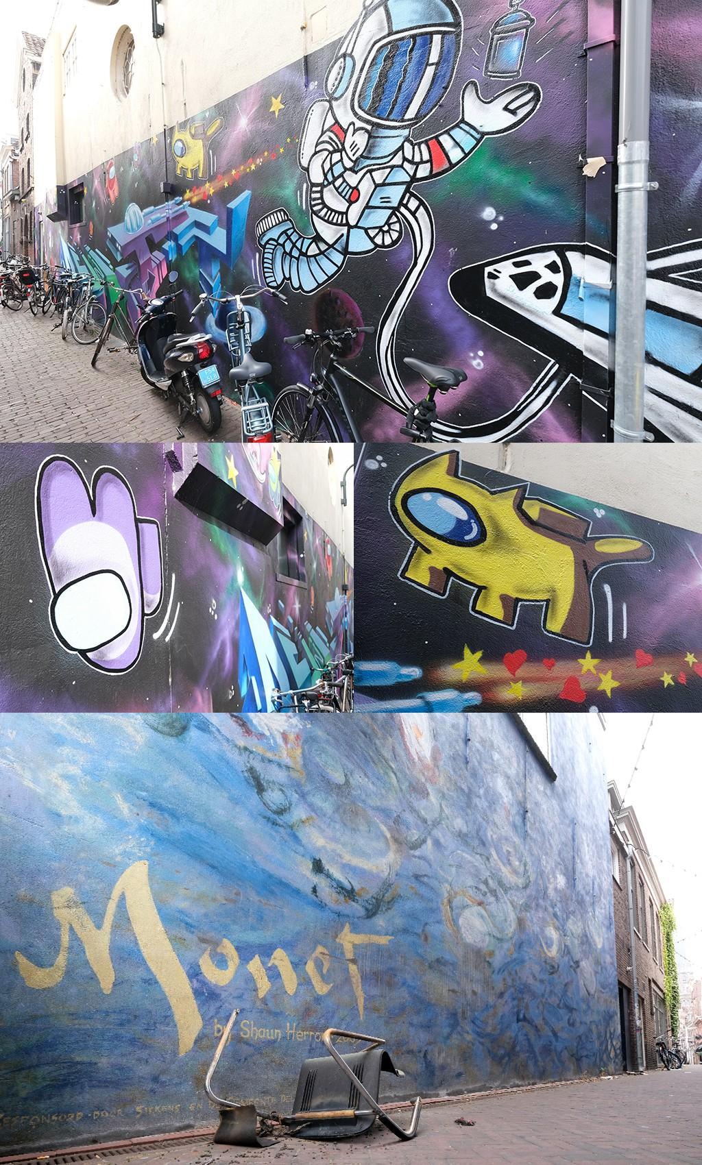 Street Art Delft rond Warenmarkt