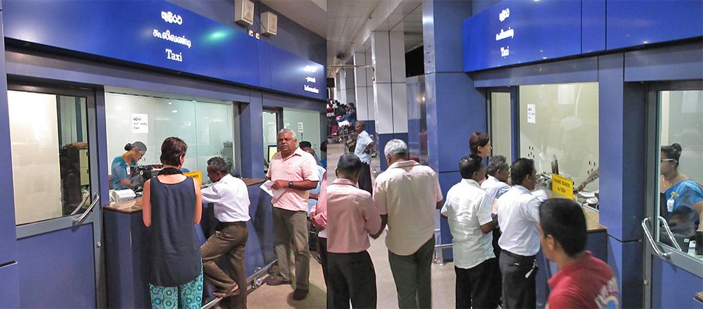 aankomst Sri Lanka prepaid taxi
