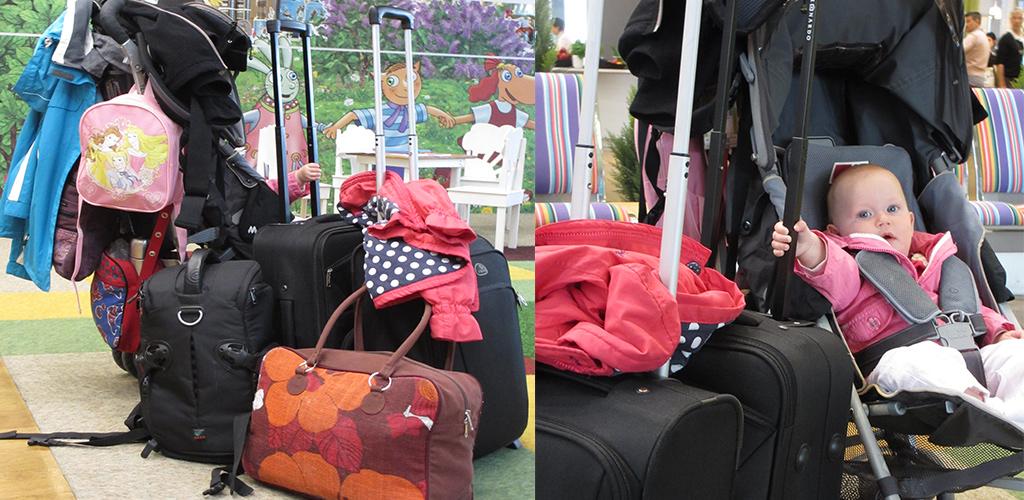 Buggy mee op reis als bagage rek