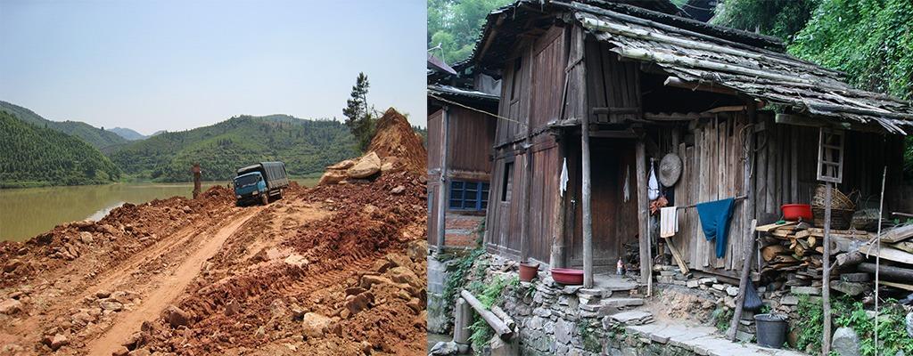 Bustocht langs slechte wegen en Dong dorpjes