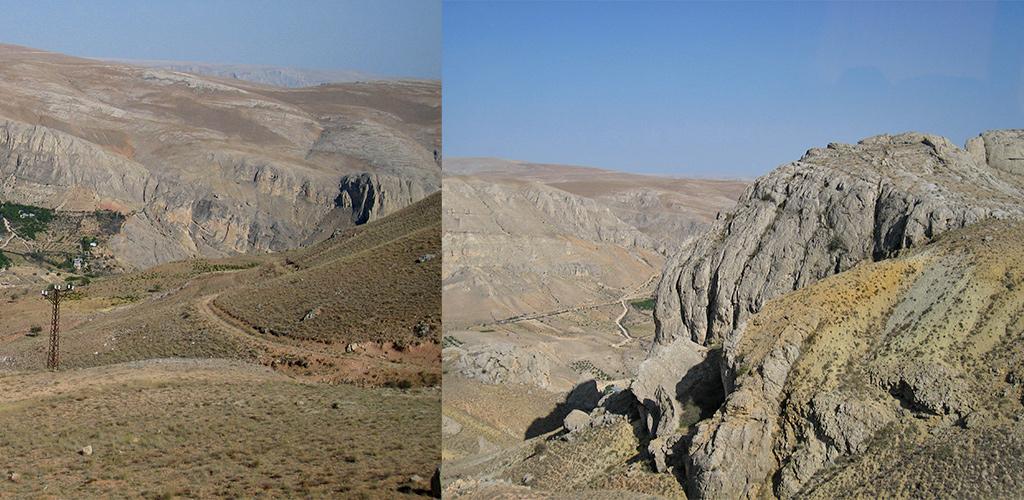 Gave landschappen op weg naar Cappadocië