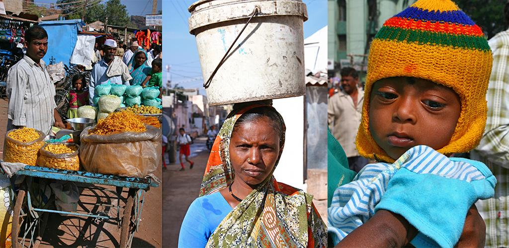 kleurrijke bevolking Karnataka
