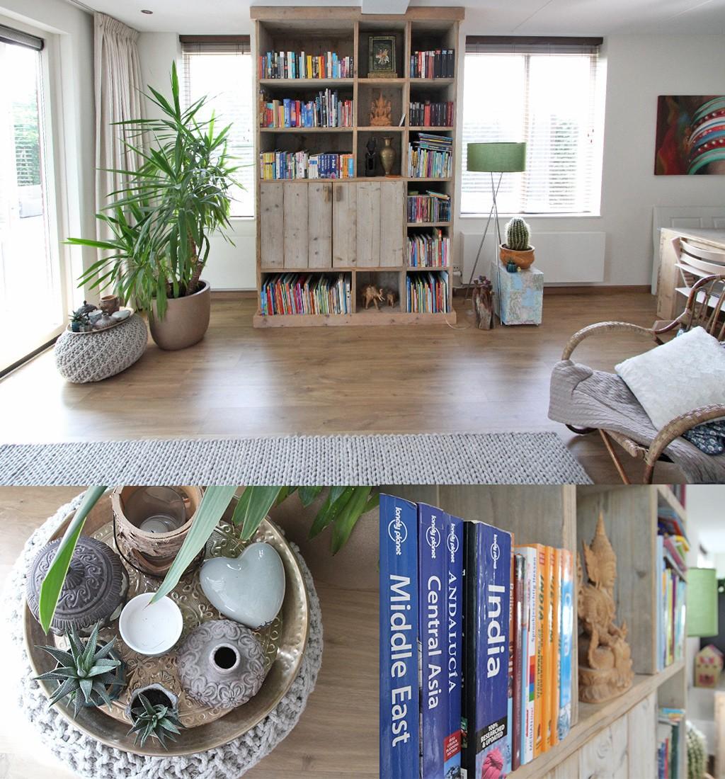 reis interieur boekenkast