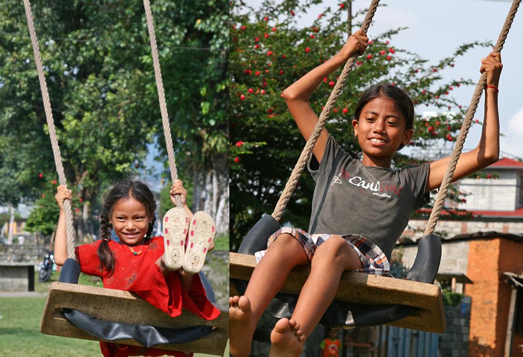 schommels onderweg naar Pokhara