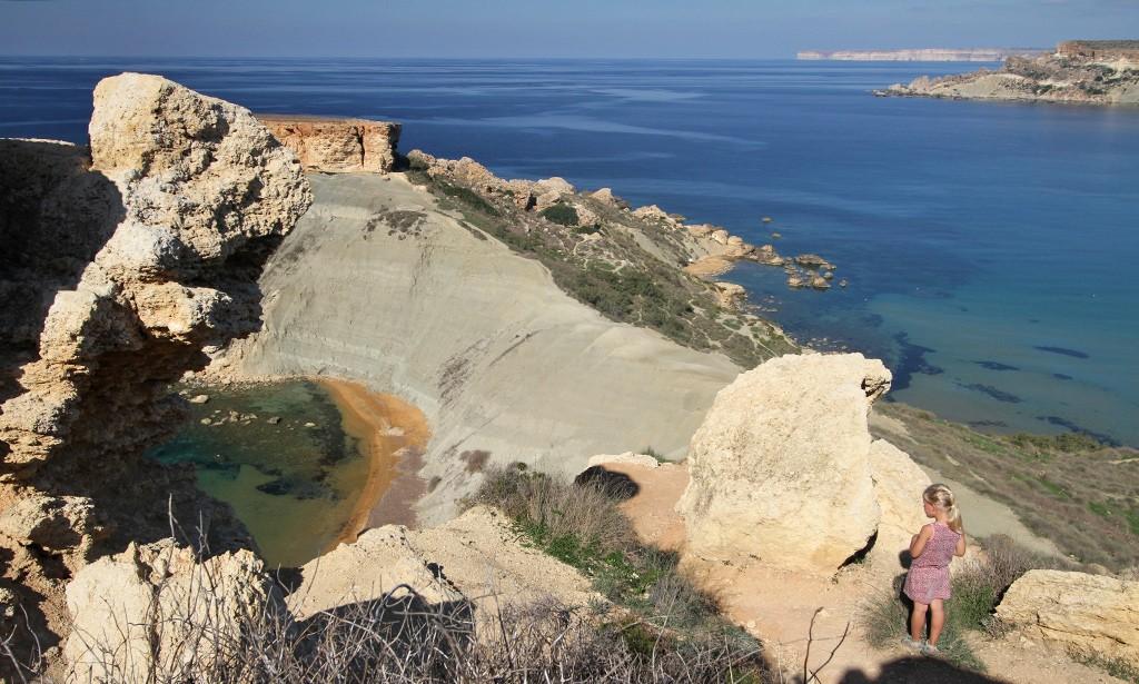 stranden Malta - Gnejna bay