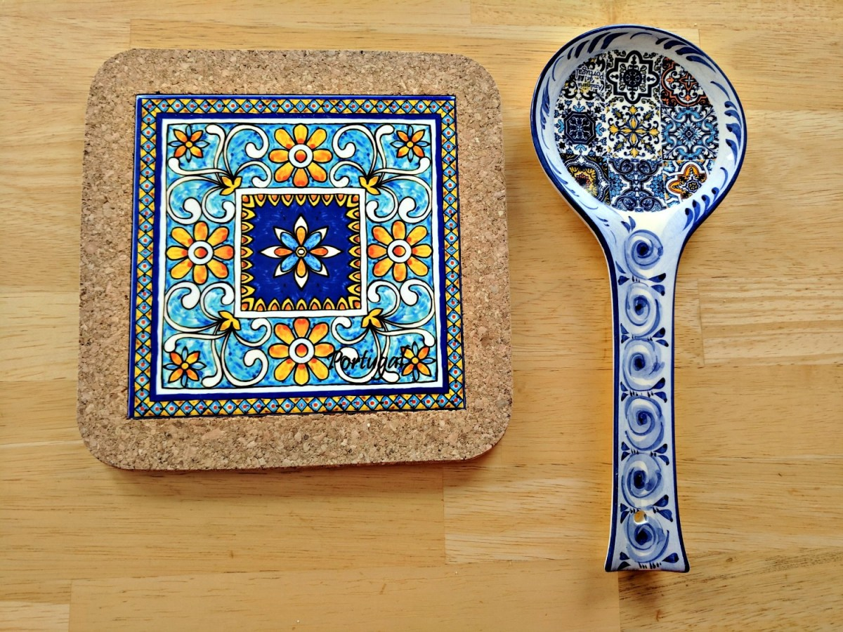 11 Top Reasons to Visit Portugal. These souvenirs I bought in Portugal, a beautiful trivet and a huge spoon rest, costs together around $10.