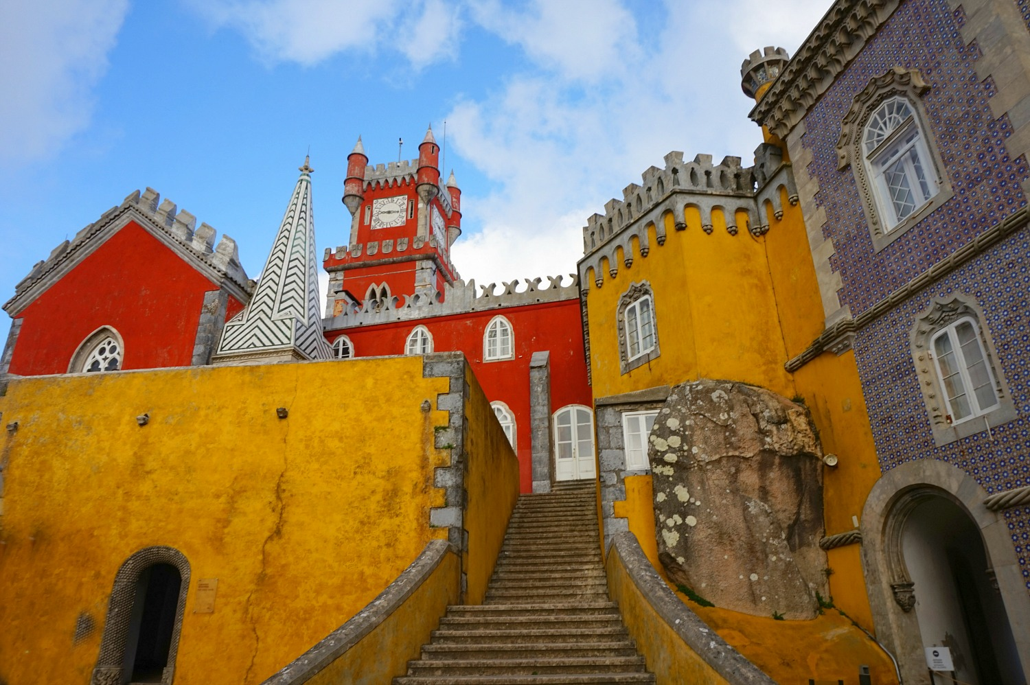 Portugal - one week itinerary. Make Pena Palace in Sintra your number one day trip from Lisbon.