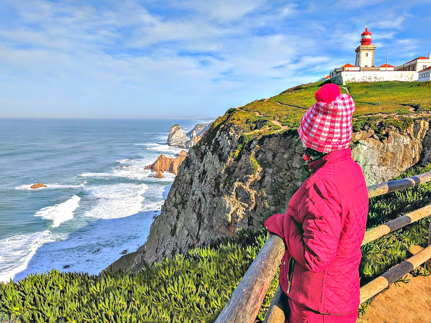 Portugal - one week itinerary. At Cabo da Roca, you will see and feel the power of the Atlantic Ocean.