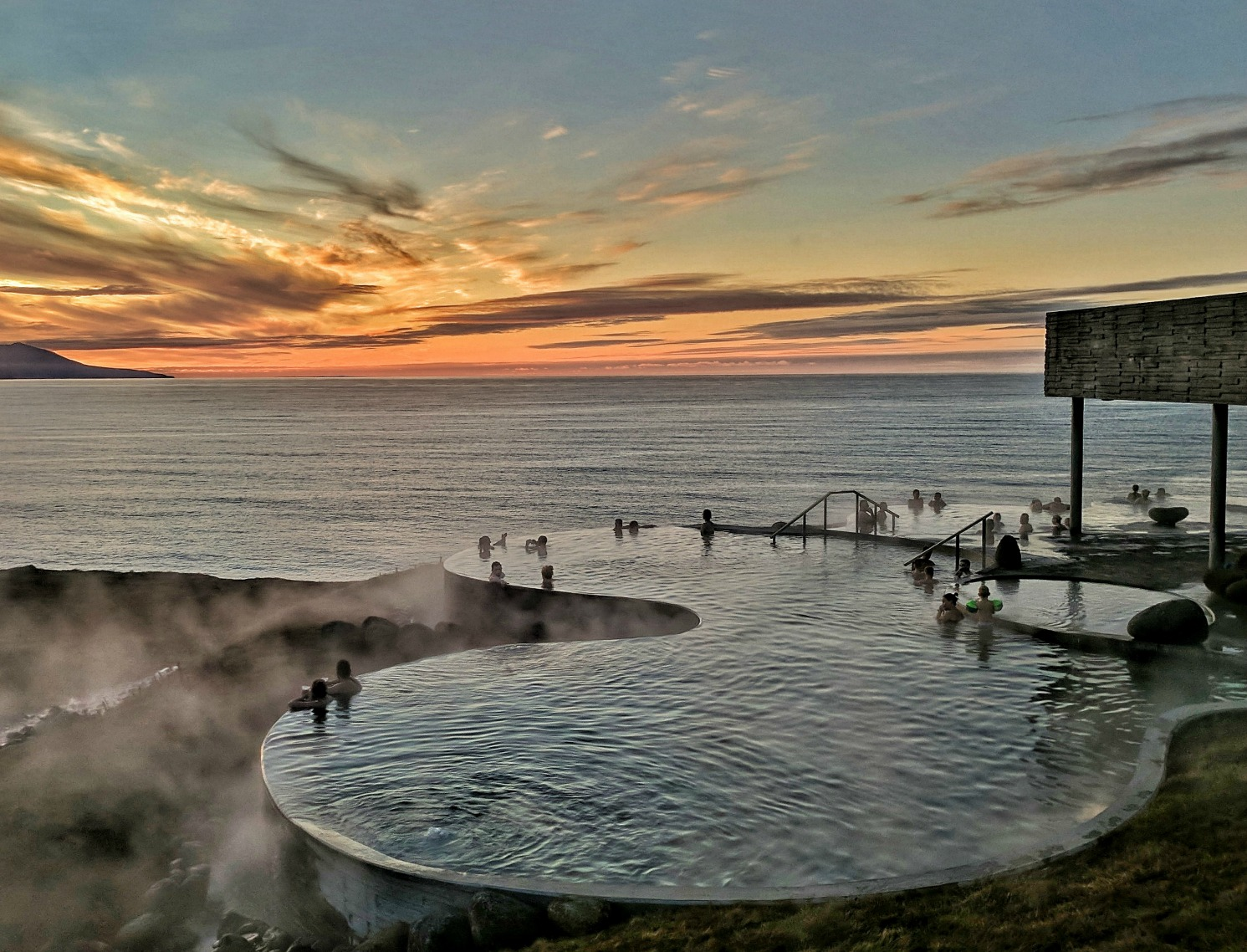 10 reasons to visit Iceland. Located on the coast of The Atlantic, GeoSea thermal bath deliver on beauty and relaxation.