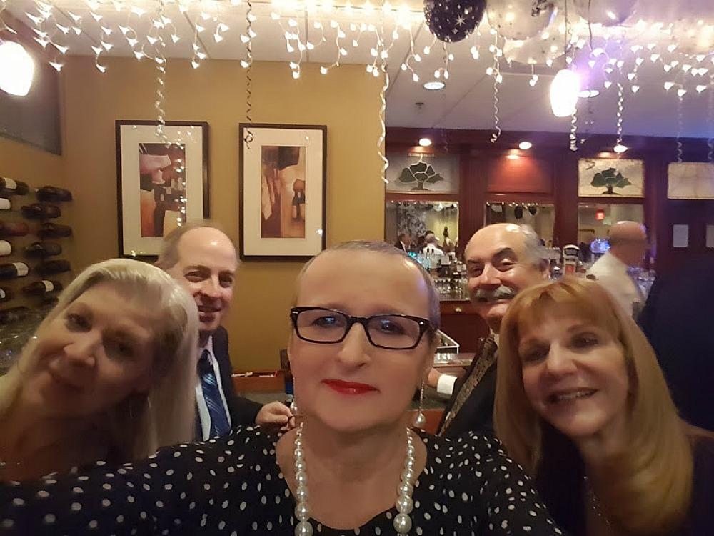 Living and traveling with cancer. New Year's Eve celebration.