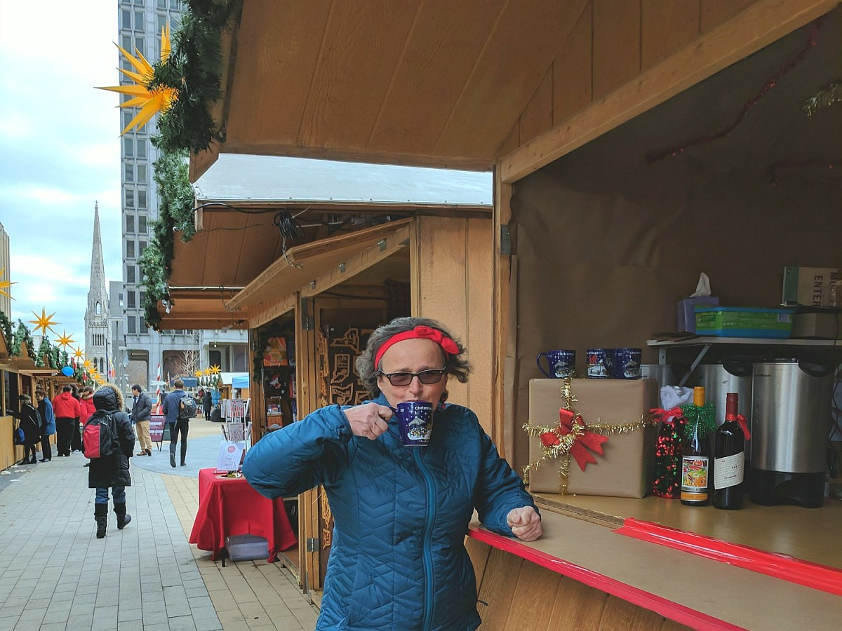 Living and traveling with cancer. Philadelphia Christmas Market.