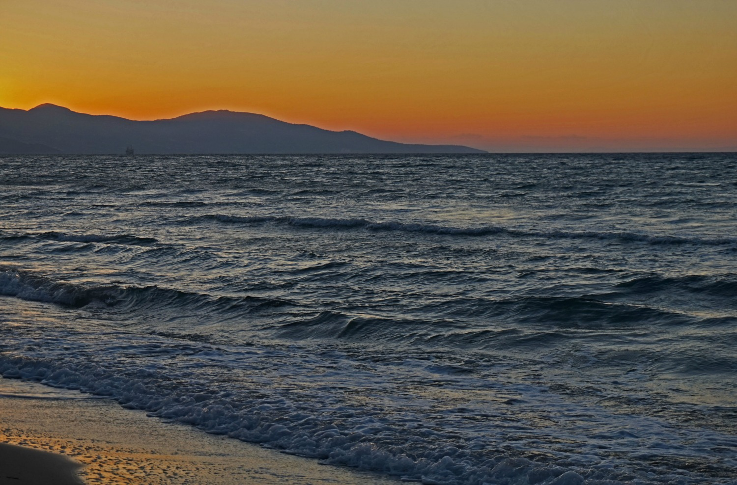 Zakynthos Greece - how to visit. Sunset at the beach.