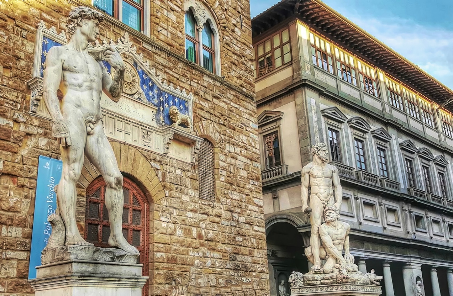 Piazza Signoria in Florence Tuscany.