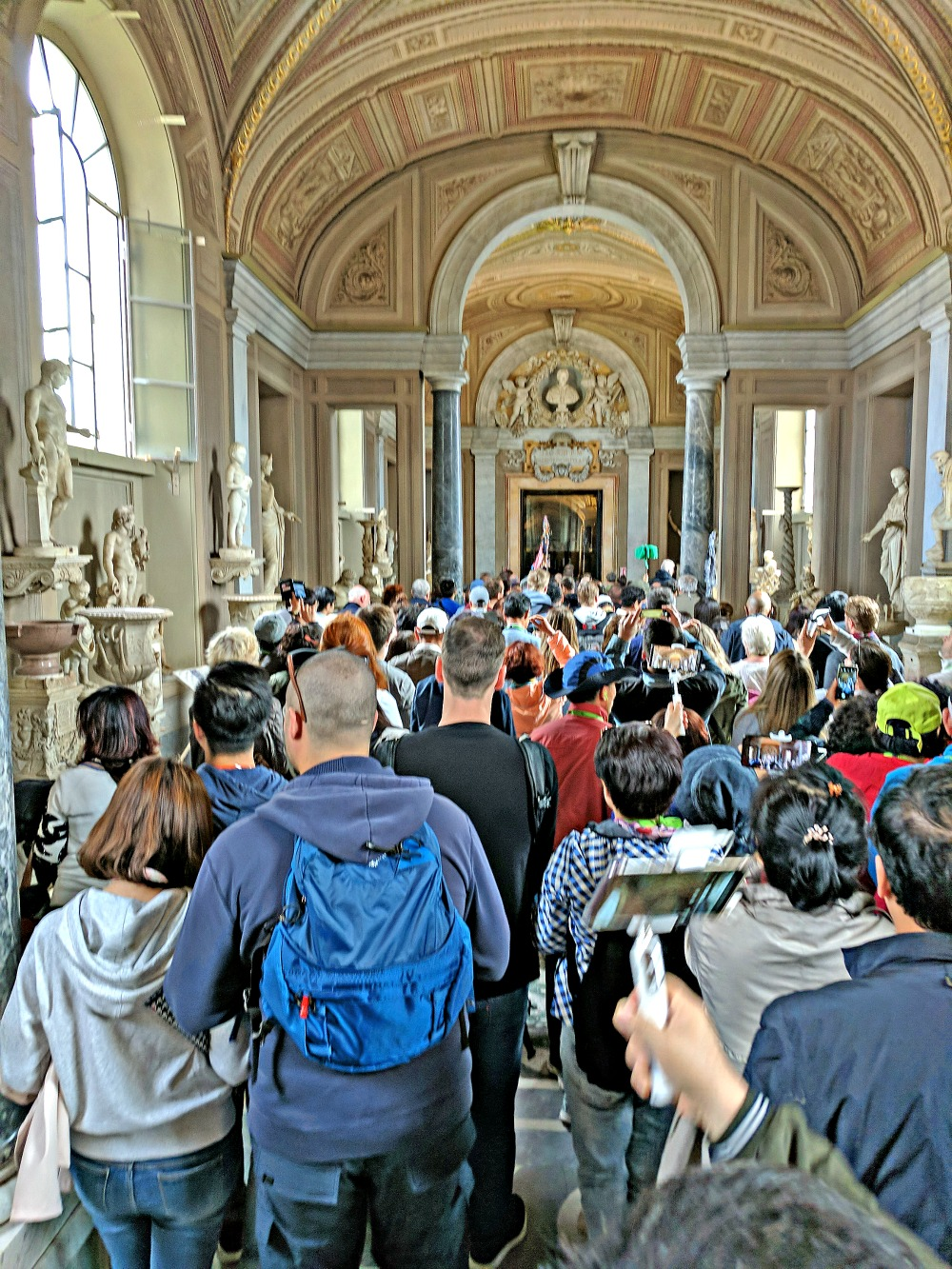 Crowds at The Vatican Museum.