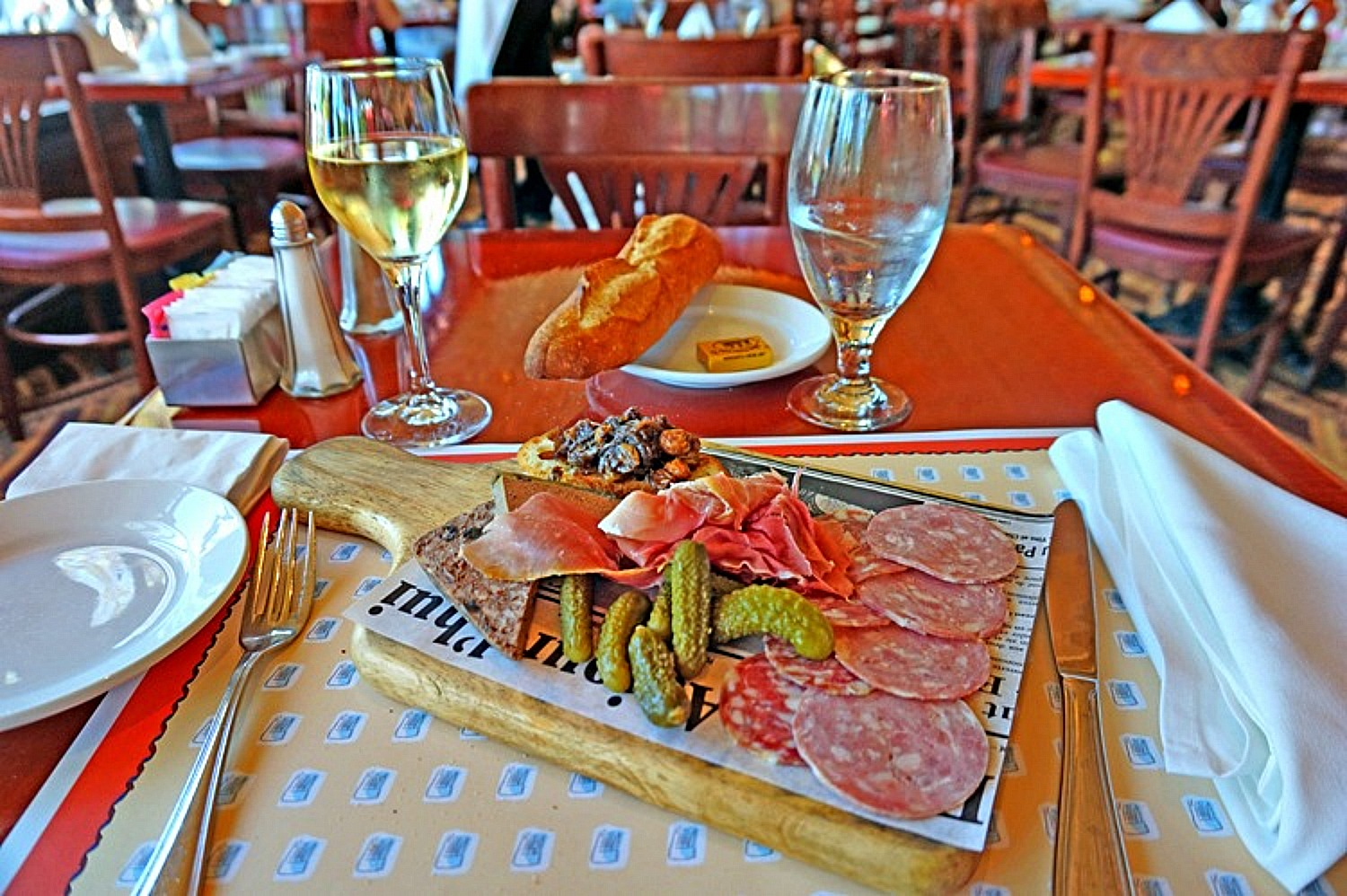 Reasons to visit America - antipasti plate.