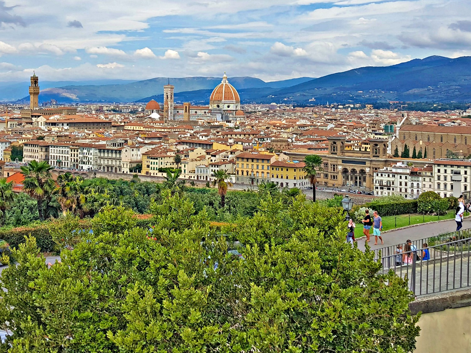 Famous sights in Italy - Piazzale Michelangelo.