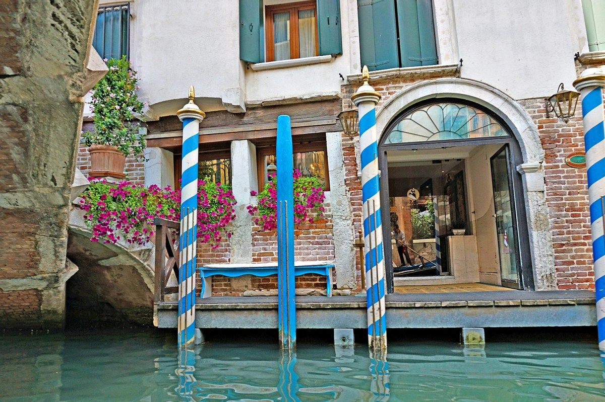 Charming canal in Venice Italy.