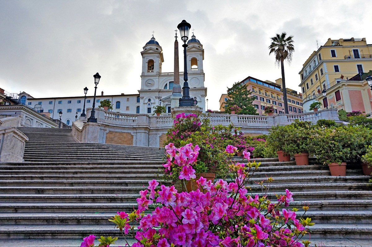 Spanish Steps-famous social gathering place in Rome.