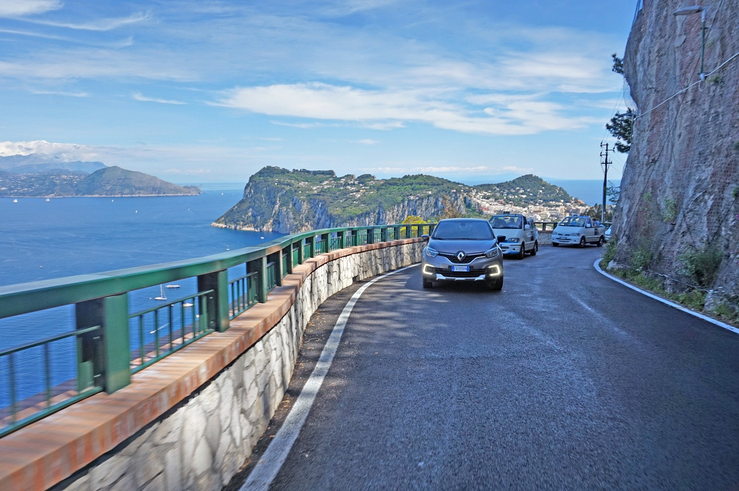 Drive along the coast in Capri Italy.
