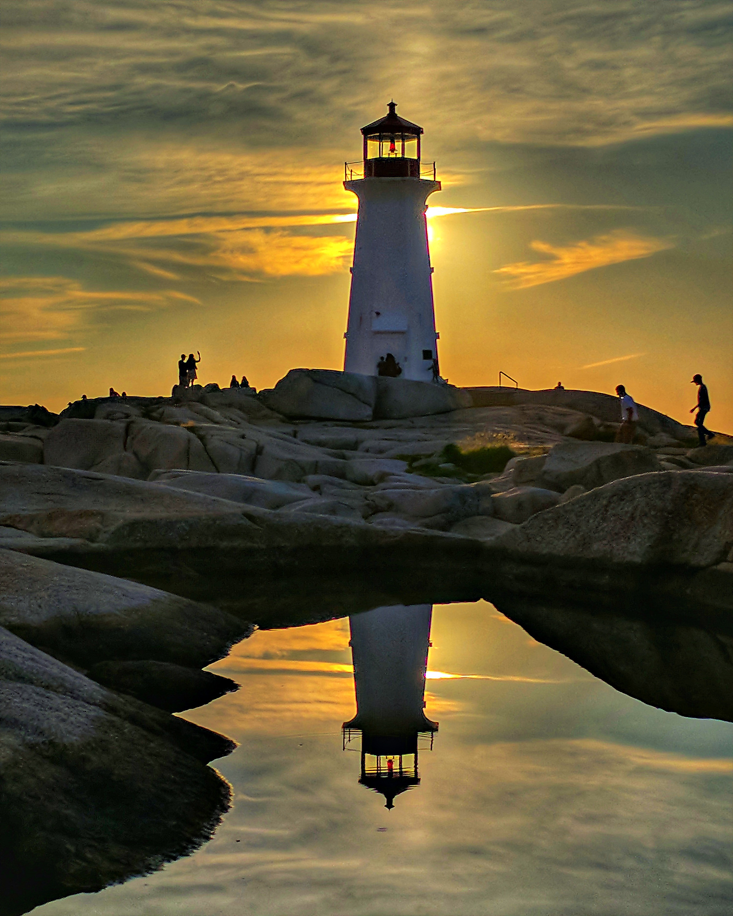 Peggy' Cove Lighthouse Nova Scotia.
