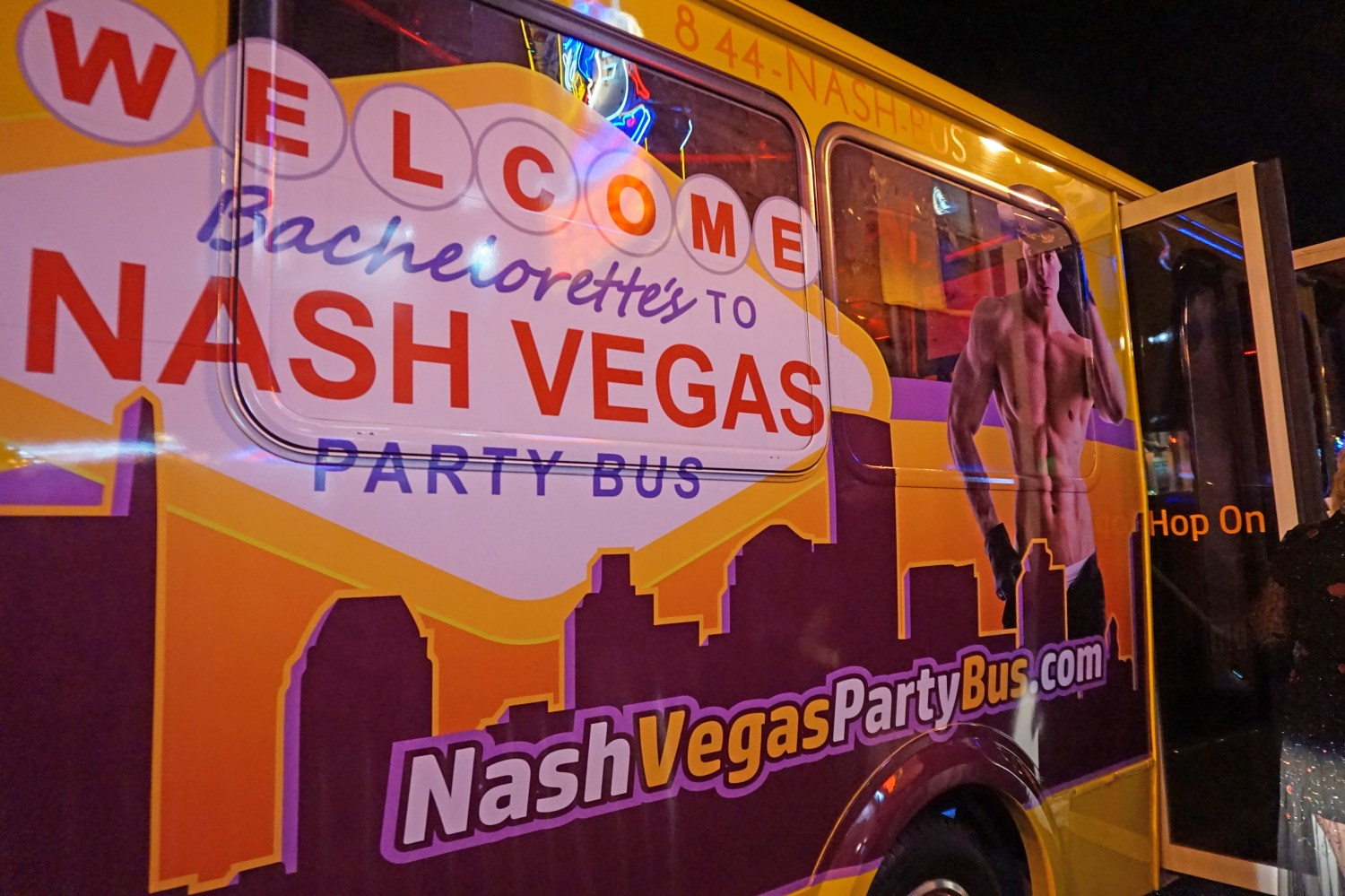 Nashville party bus for bachelorette party.