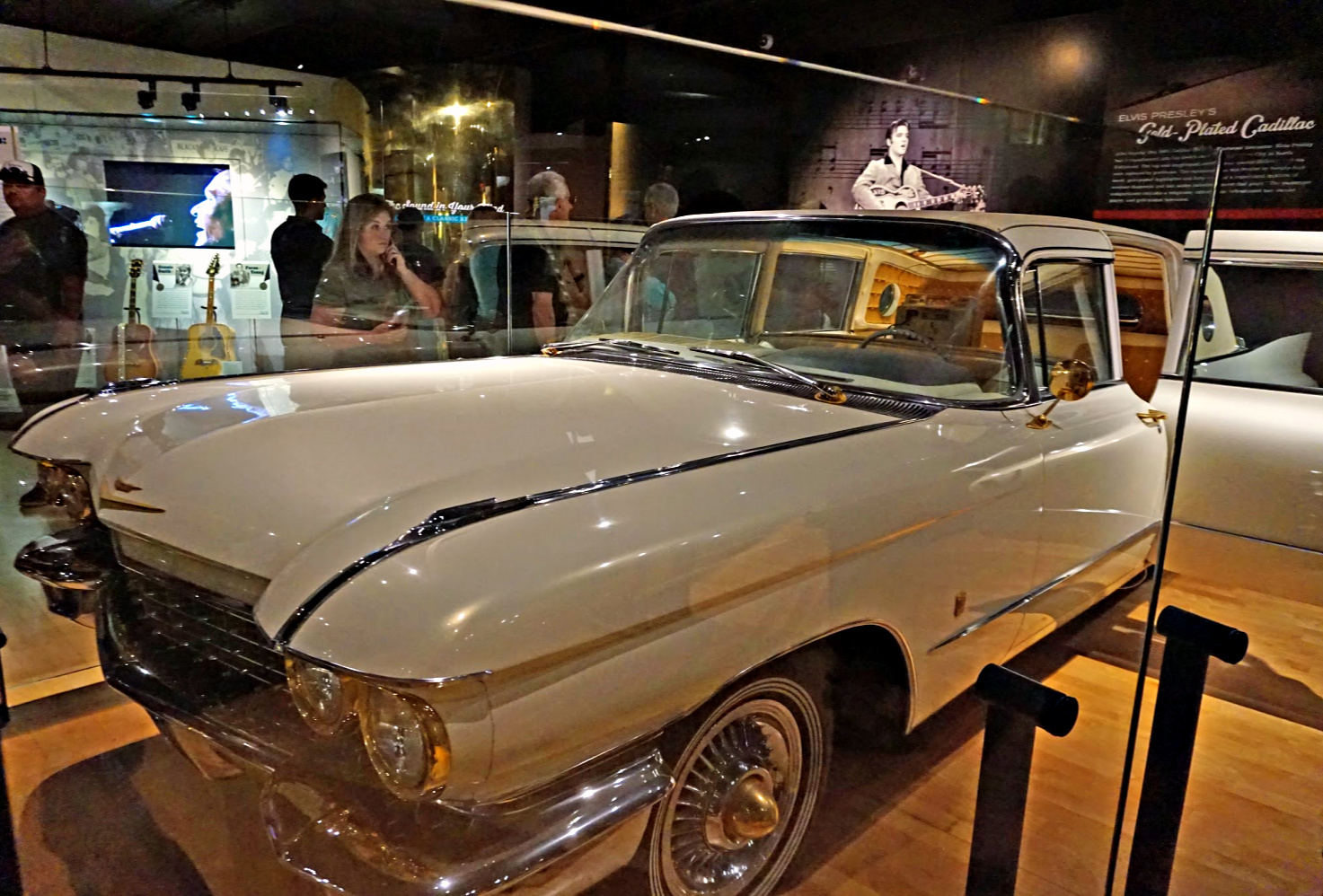 Elvis Presley's 1960 Gold Cadillac at the Country Music Hall of Fame.