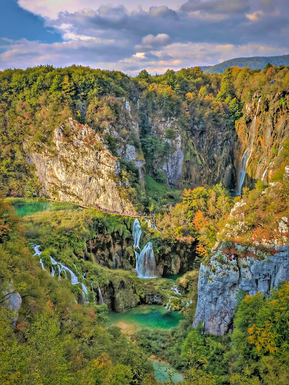 Croatia vacations. Stunning view of Plitvice Lakes.