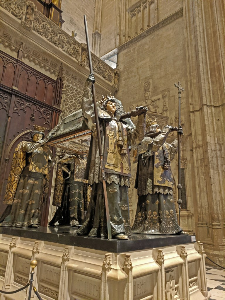 Cathedral Seville. Tomb of Christopher Columbus.