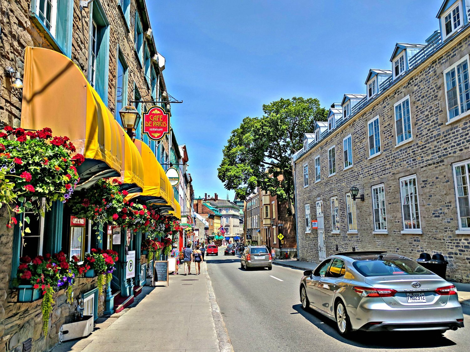 Road trip to the province of Quebec. Old town Quebec City.