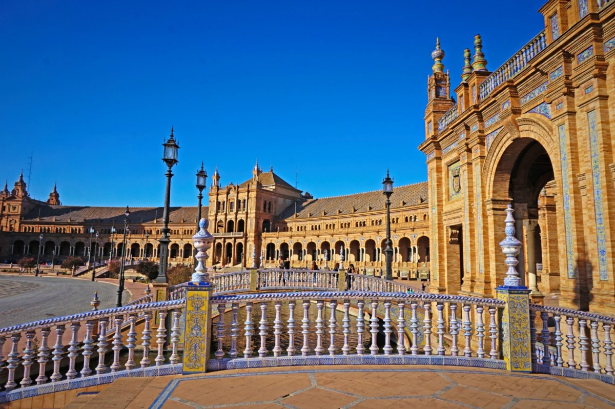 One of the most beautiful squares in Europe, Plaza de Espana.