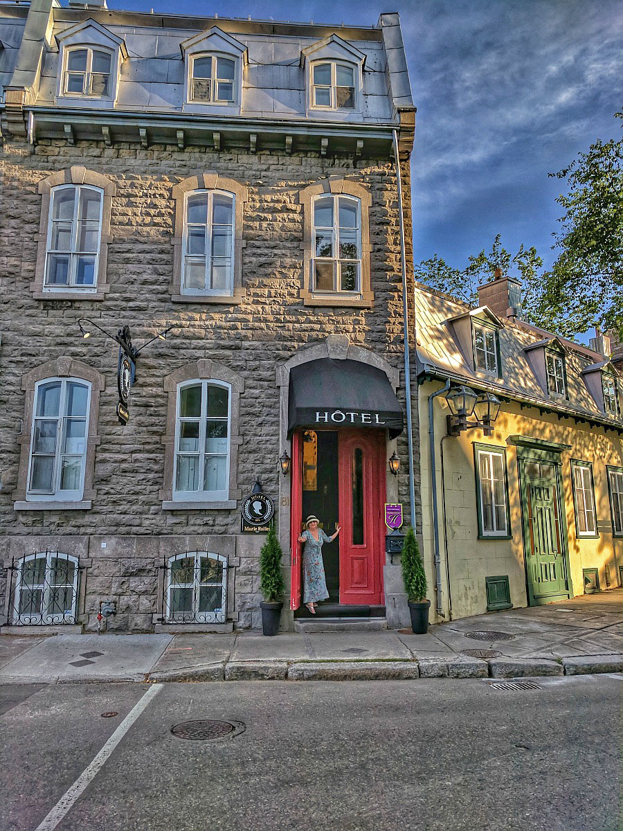 You can find many charming hotels in the Old Town Quebec.