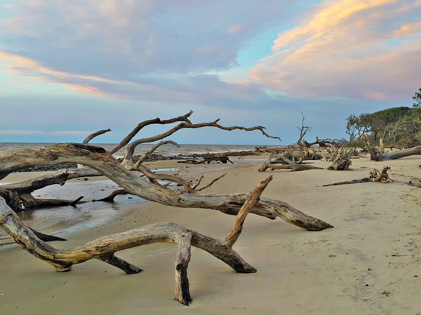Sunrise at Boneyard Beach at Big Talbot State Park, Florida.