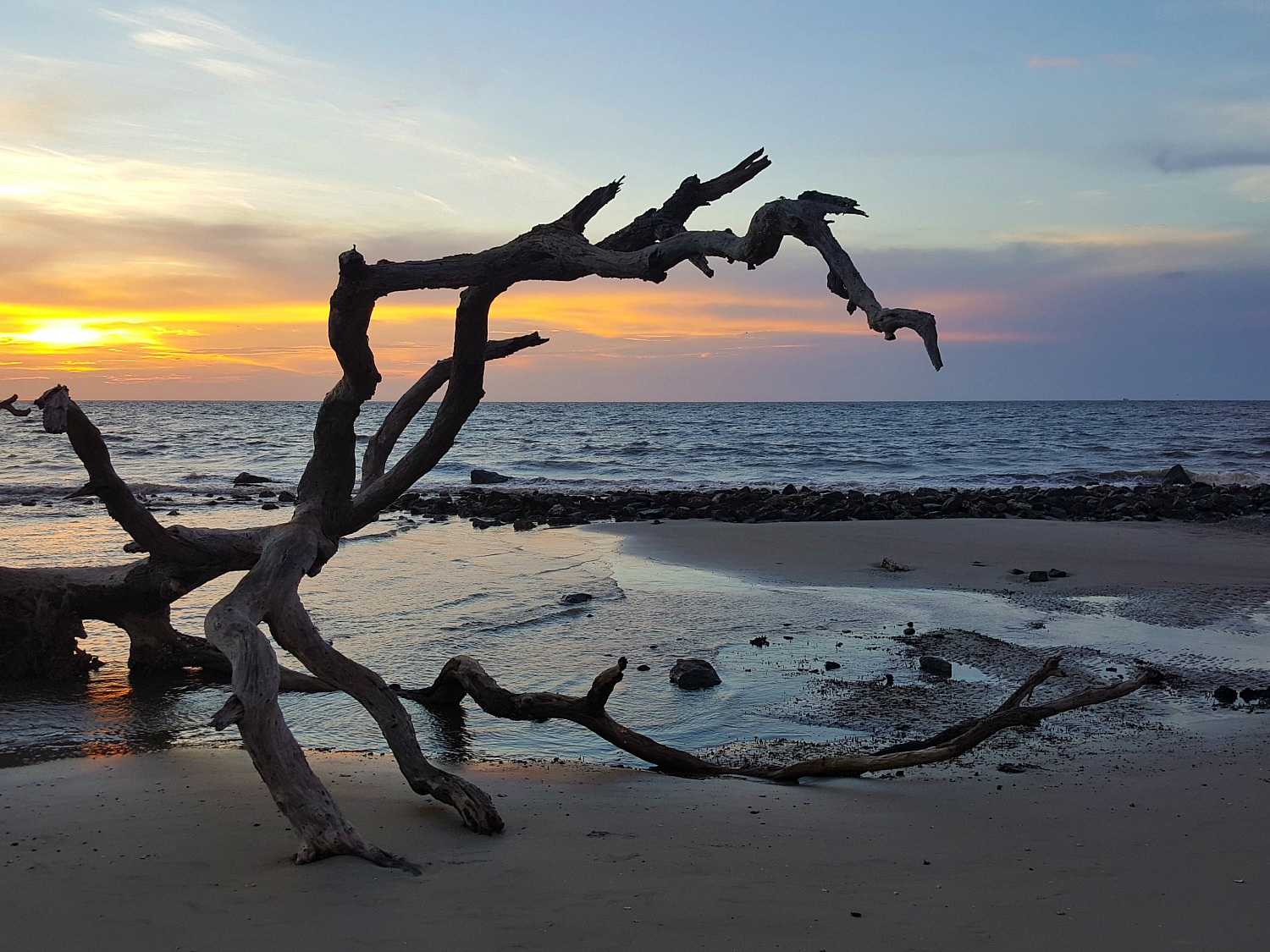 Boneyard Beach, Florida welcomes a new day.