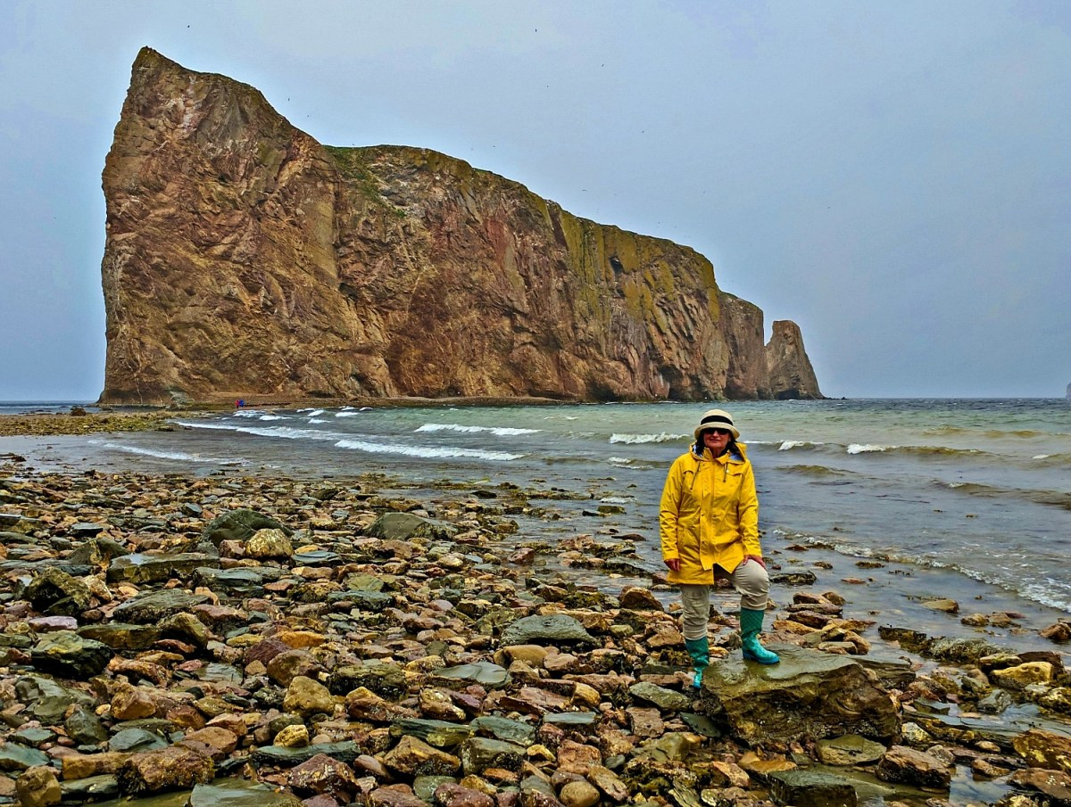 Road trip to the Province of Quebec. Rocky beach near Perce Rock.