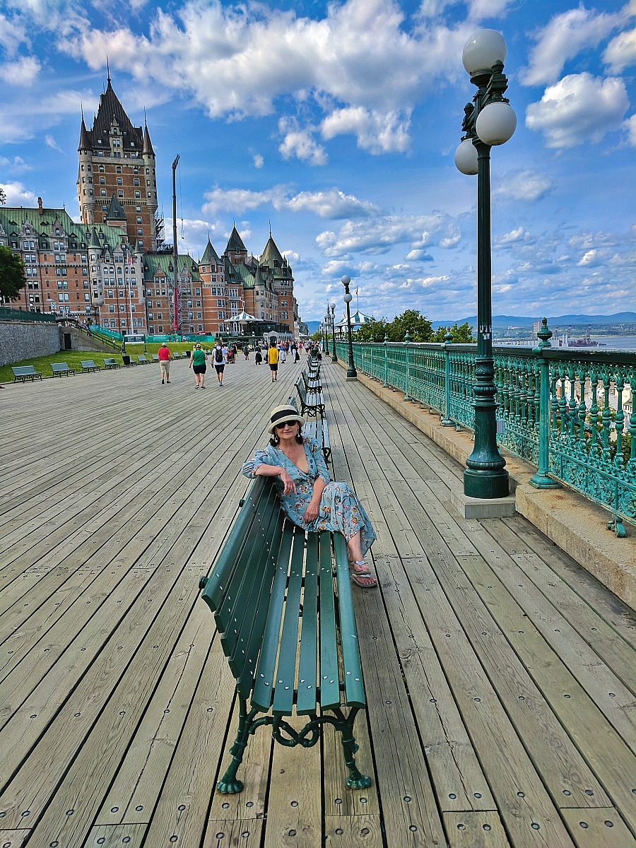 Terrasse Dufferin delivers beautiful views of Saint Lawrence River and Chateau Frontenac.